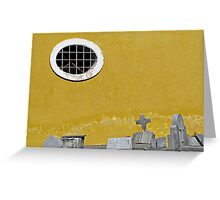 Window and Headstones  Greeting Card