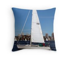 Sailing on Sydney Harbour Throw Pillow