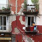 Washday In Naples, Italy. by joycee