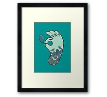 Blue Feather Tattoo Framed Print