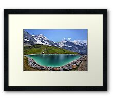 Alpen Emerald Framed Print