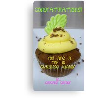 CONGRATULATIONS! - Top 10 Winner - Cupcake Corner Canvas Print