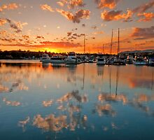 Raby Bay Reflections by Beth  Wode