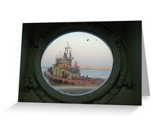 Tugboats & Port Holes Greeting Card