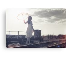 White umbrella Canvas Print