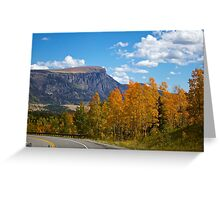 Autumn Mountain Roads in Colorado Greeting Card