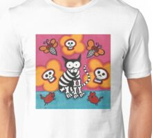 Skelly Cat with Bees Unisex T-Shirt