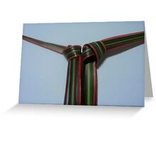 double tie Greeting Card