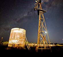 Last drink before blast off - Australian Outback by Barry Armstead
