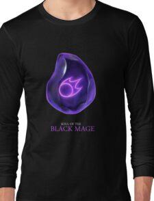 Soul of the Black Mage -black Long Sleeve T-Shirt