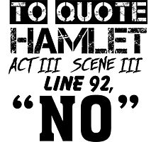 Hamlet - William Shakespeare's play Photographic Print
