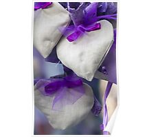 handmade heart and lavender Poster