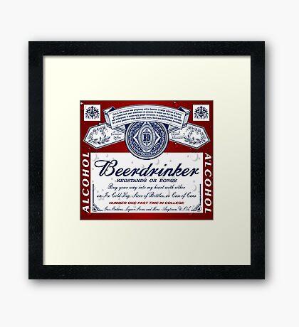 Beerdrinker Parody Beer Logo Framed Print