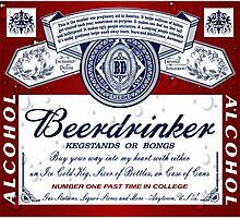 Beerdrinker Parody Beer Logo Photographic Print