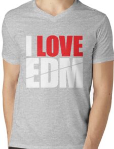 I Love EDM (Electronic Dance Music)  [white] Mens V-Neck T-Shirt