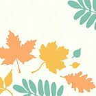 Sunny Pastel Leaves Pattern by XOOXOO