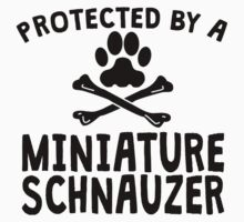 Protected By A Miniature Schnauzer Kids Clothes