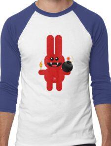 RABBIT 4  (Cute pet has a bomb and its alight!) Men's Baseball ¾ T-Shirt