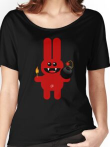 RABBIT 4  (Cute pet has a bomb and its alight!) Women's Relaxed Fit T-Shirt