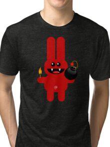 RABBIT 4  (Cute pet has a bomb and its alight!) Tri-blend T-Shirt