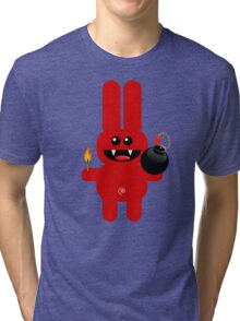 RABBIT 4  (Cute pet has a bomb and its alight!) Tri-blend T-Shirt
