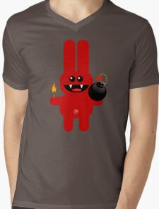 RABBIT 4  (Cute pet has a bomb and its alight!) Mens V-Neck T-Shirt
