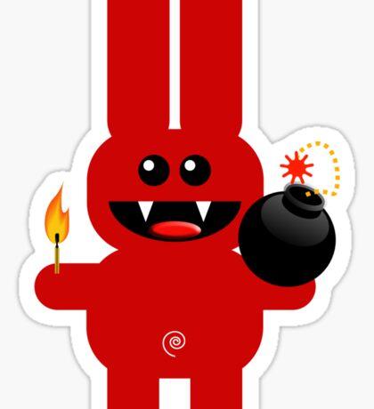 RABBIT 4  (Cute pet has a bomb and its alight!) Sticker