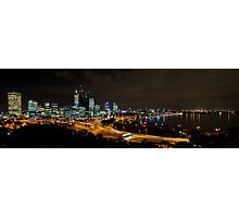 Perth City Lights War Memorial Lookout 1 Photographic Print