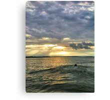 It's A Dog Paddle Evening Canvas Print