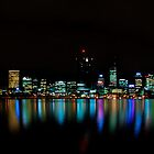 Perth City Lights Refelctions 1 by Jaxybelle