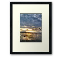 Summer Night Swim Framed Print