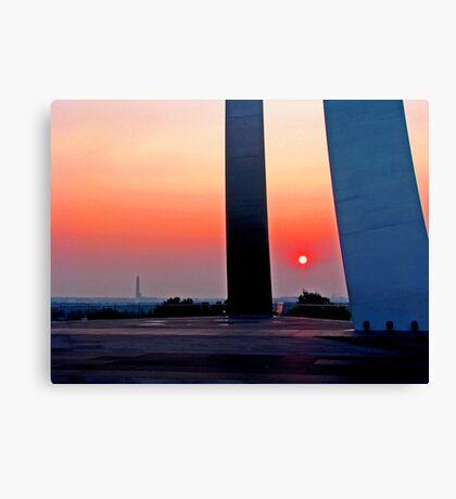 Air Force Memorial Sunrise Canvas Print