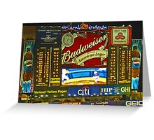 Scoreboard - Shea Stadium Greeting Card