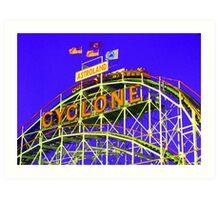 The Cyclone - Coney Island Art Print