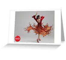 CocaCola Flamenco Dancer Greeting Card