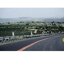Highway & Mountains Photographic Print