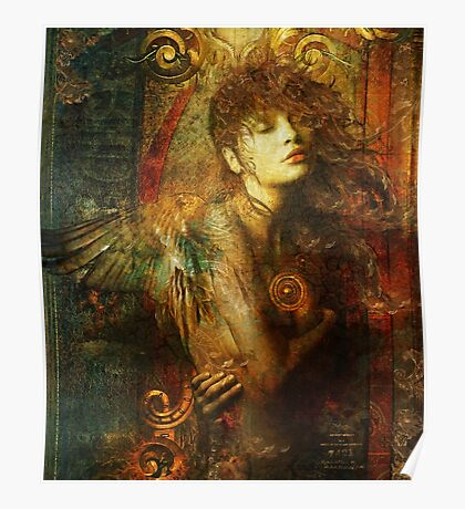 Gold Leaf Angel Poster