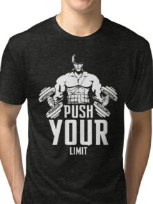 Roronoa Zoro Train Hard And Push Your Limit  Tri-blend T-Shirt