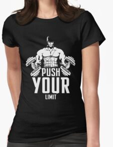 Roronoa Zoro Train Hard And Push Your Limit  Womens Fitted T-Shirt
