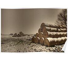 Haystacks, Norfolk, England Poster