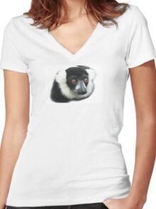 Lemur Women's Fitted V-Neck T-Shirt