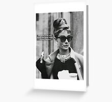Elegance is the only beauty that never fades. Greeting Card