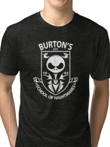 Burton's School of Nightmares Tri-blend T-Shirt