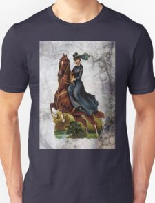 Victorian Equestrian Lady Riding Side Saddle Horse T-Shirt