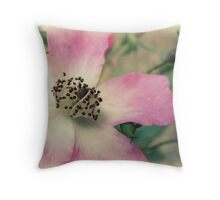 Vintage Pink Throw Pillow