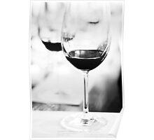 wine glasses, at wine tasting Poster