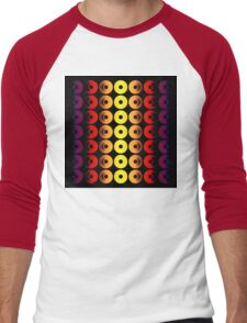 Abstract Discs of Pottery Men's Baseball ¾ T-Shirt