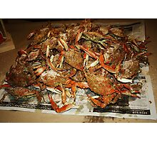 Maryland Hot Steamed Crabs Photographic Print