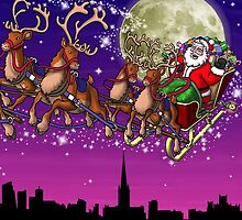 Here comes Santa Claus by Richard Bell