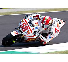 Marco Simoncelli in Mugello 2011 Photographic Print